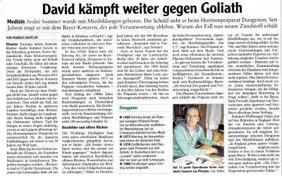 """Bericht der Augsburger Allgemeinen und Allgäuer Zeitung """"David kämpft weiter gegen Goliath"""""""